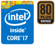 Intel Core i7、80PLUS BRONZE認証電源搭載