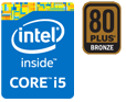 Intel Core i5、80PLUS BRONZE認証電源搭載